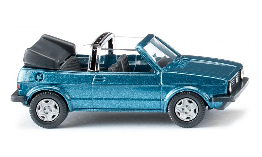 VW Golf I Cabrio - oceanic blue met.