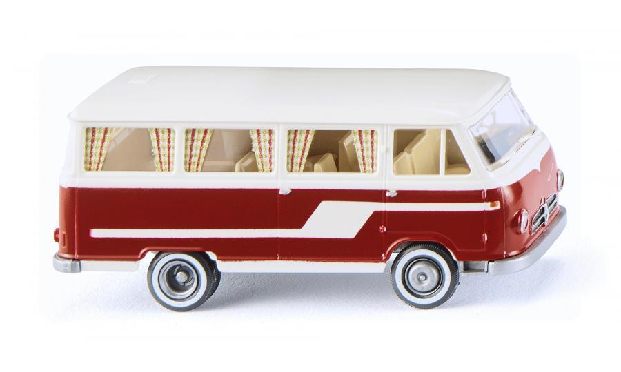 Borgward Campingbus B611 - perlweiß/rot
